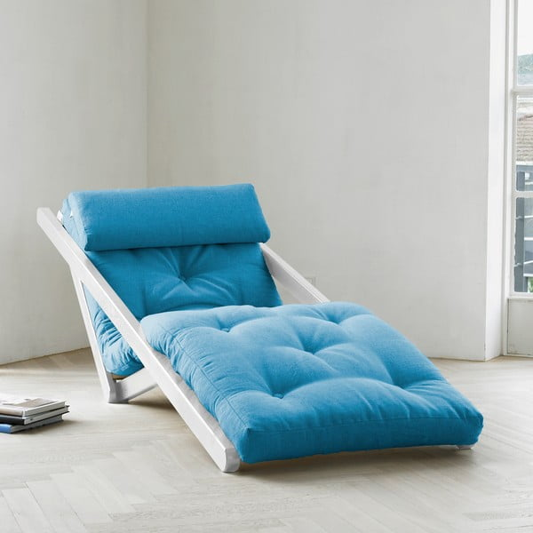Szezlong Karup Figo White/Horizon Blue, 70 cm