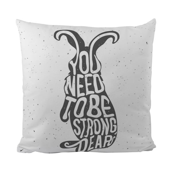 Poduszka Black Shake Strong Bunny, 50x50 cm