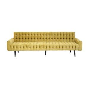 Żółta sofa trzysobowa Kare Design Milchbar