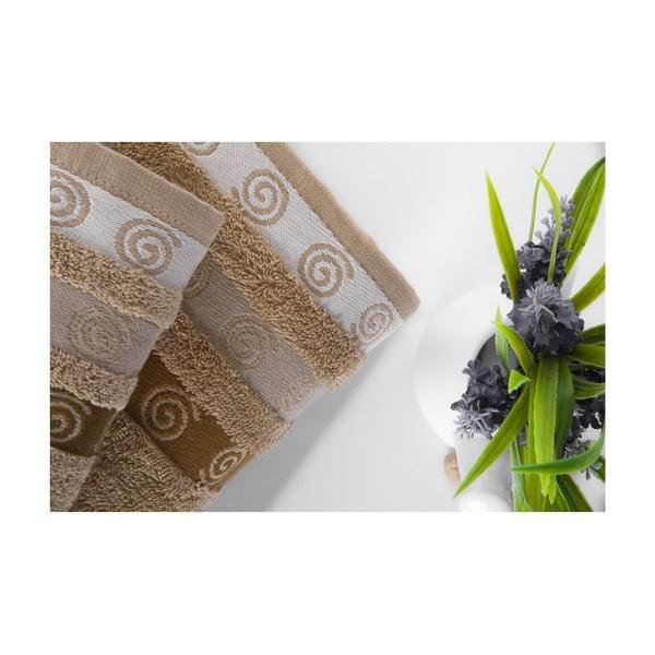 Zestaw 2 ręczników Truva Light Brown, 90x150 i 50x90 cm