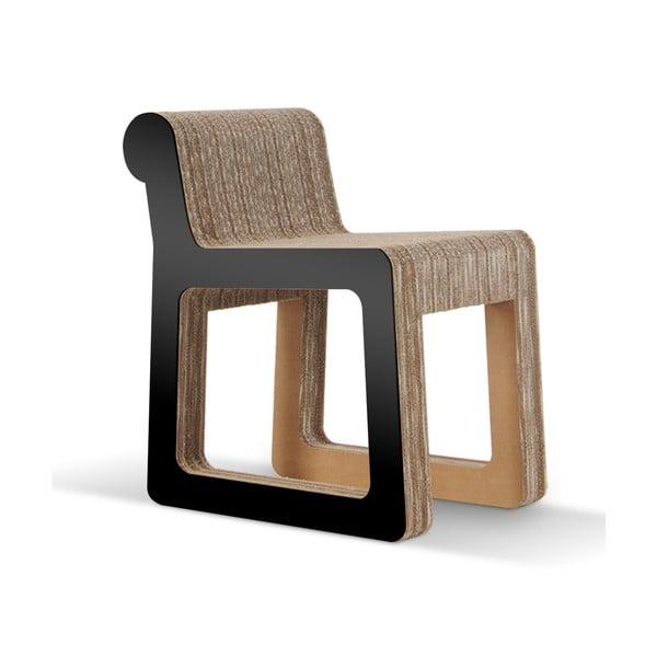Kartonowe krzesło Knob Black