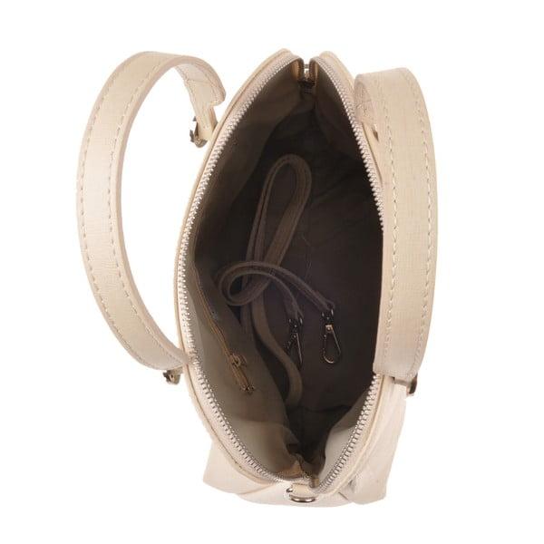 Skórzana torebka Yutz, kremowa