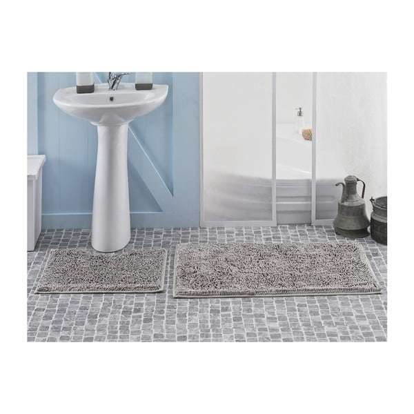 Zestaw 2 dywaników łazienkowych Novem Grey