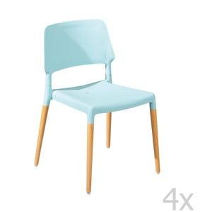 Zestaw 4 krzeseł do jadalni Molde Blue