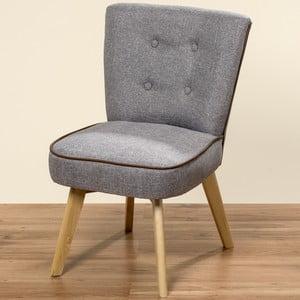 Szare krzesło Boltze Hanna, 77 cm