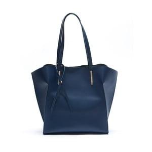 Niebieska skórzana torebka Mangotti Kalina