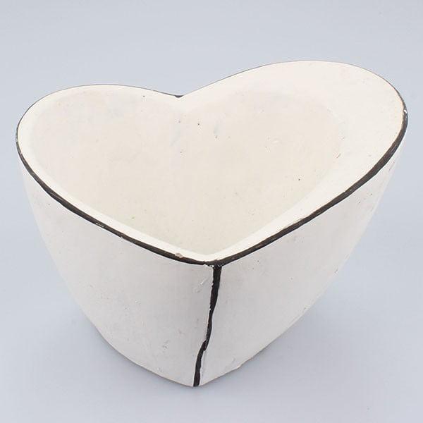 Betonowa doniczka Vintage Heart