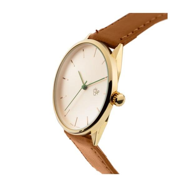 Zegarek z brązowym paskiem i złoto-białą tarczą Cheapo x Skateistan Nawroz Vegan