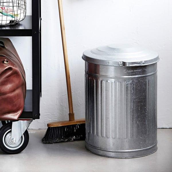Kosz na śmieci Garbage Zinc, 25,5x30 cm