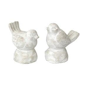 Zestaw 2 figurek dekoracyjnych Bolzonella Cement Birds