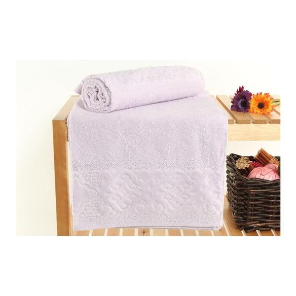 Zestaw 2 ręczników Meltem Lilac, 70x140 cm