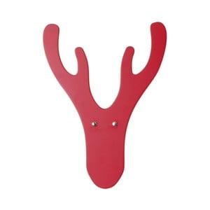 Czerwony wiszący wieszak Furniteam Reindeer