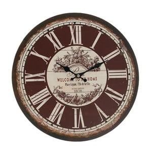 Zegar ścienny Brown Vintage, 34 cm