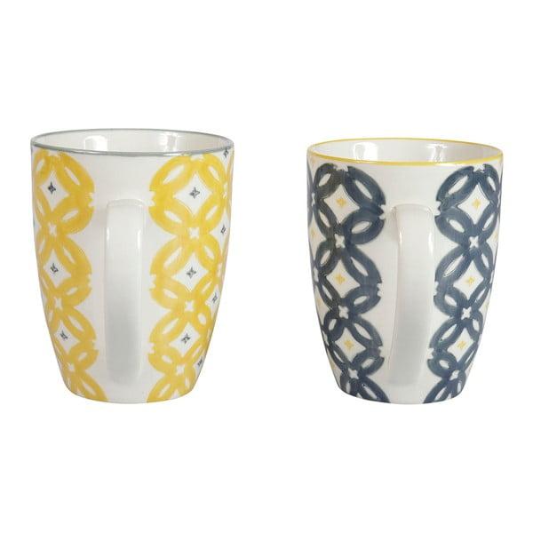 Zestaw 4 porcelanowych kubków Flower