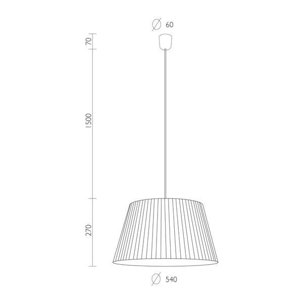 Czarna   lampa wisząca Bulb Attack Dos Plisado, ⌀ 54 cm