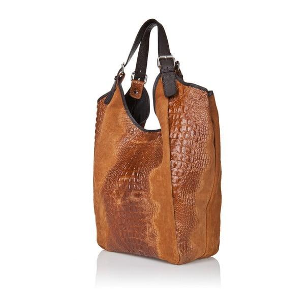 Koniakowa torebka zamszowa Giorgio Costa Totisa