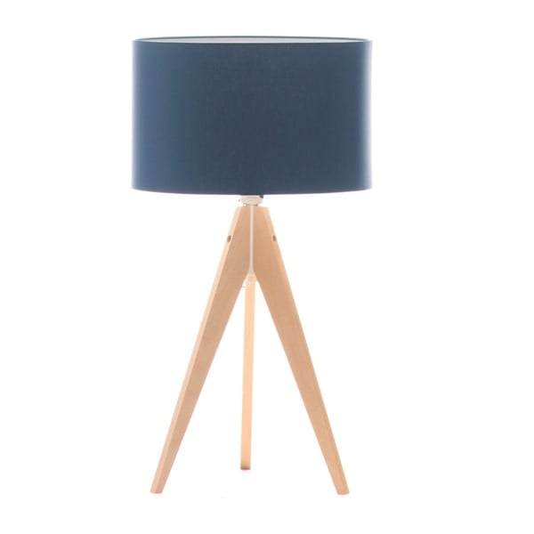 Lampa stołowa Artist Dark Blue/Birch, 40x33 cm