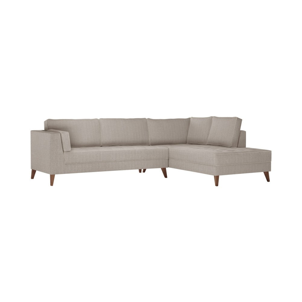 Beżowa prawostronna sofa Stella Cadente Maison Atalaia