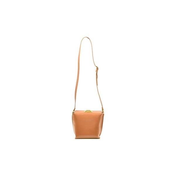 Skórzana torebka Tracy, kolor wielbłądzi
