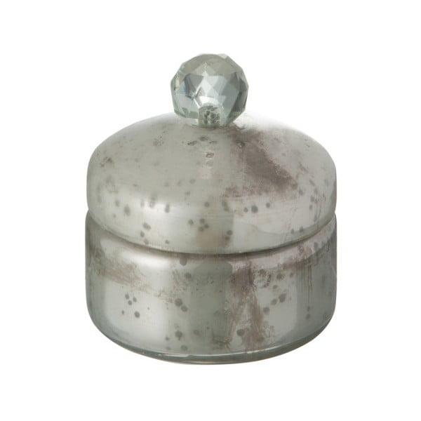 Szklana szkatułka na biżuterię J-Line Nacre White