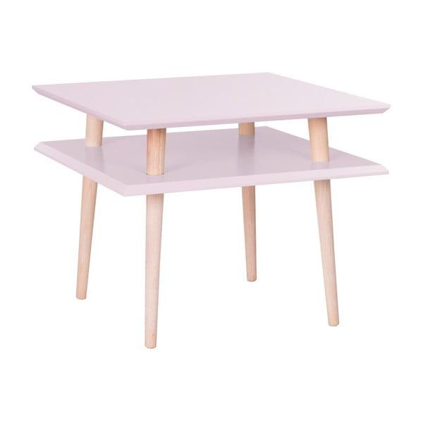 Różowy stolik Ragaba Square, 55x55 cm