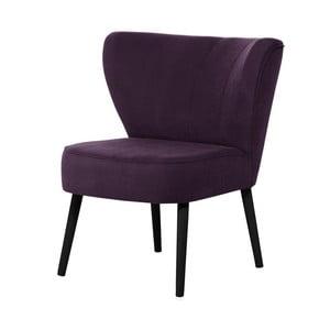 Fioletowy fotel z czarnymi nogami My Pop Design Hamilton