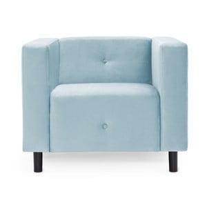 Jasnoniebieski fotel Vivonita Milo