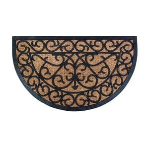 Gumowa półokrągła wycieraczka z kokosowego włókna Esschert Design Ornamental