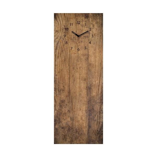 Tablica magnetyczna z zegarem Eurographic Used Wood, 30x80 cm