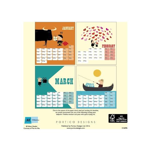 Kalendarz na stół Portico Designs Ink PRess