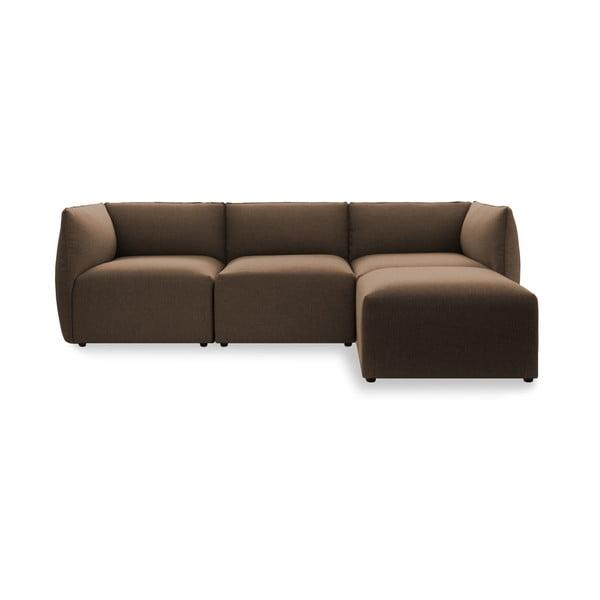 Sofa trzyosobowa VIVONITA Cube Dark Beige z podnogiem