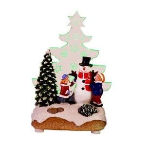Świecąca dekoracja Santa with Children