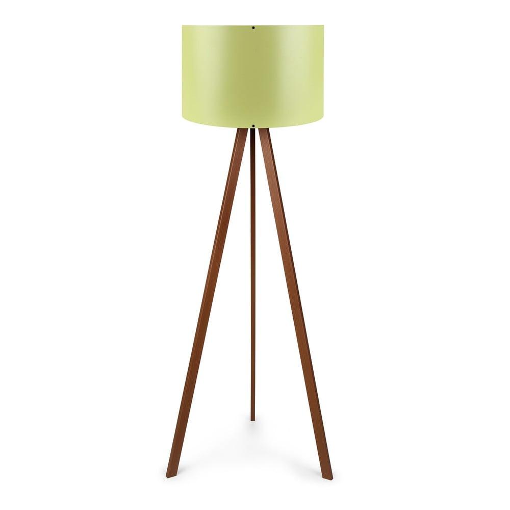 Lampa stojąca z zielonym kloszem Pollly