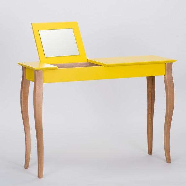 Żółta toaletka z lustrem Ragaba Dressing Table, dł. 105 cm