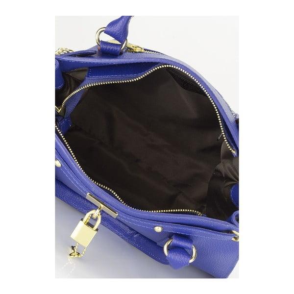 Niebieska torebka skórzana Giulia Massari Blue