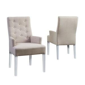 Krzesło Canett Twitter Chair z podłokietnikami, jasne nogi