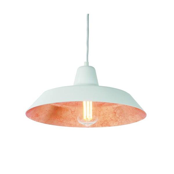 Biała lampa wisząca z wnętrzem w kolorze miedzi Bulb Attack Cinco