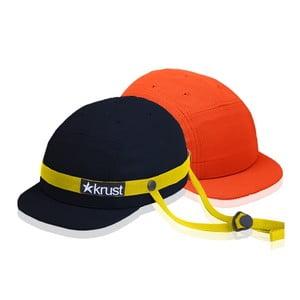 Kask rowerowy Krust black/yellow/orange z zapasową czapką, rozmiar S