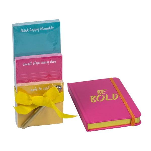 Zestaw notesów i bloczków z długopisem Be Bold