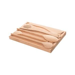 Deska do krojenia z przyborami kuchennymi Sola Basic Wood
