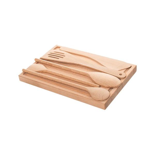 Deska z akcesoriami kuchennymi Sola Basic Wood