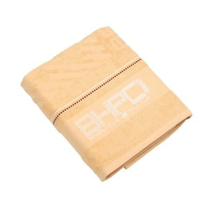 Ręcznik bawełniany BHPC 80x150 cm, pastelowy żółty