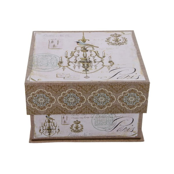 Zestaw 3 pudełek Paris Vintage