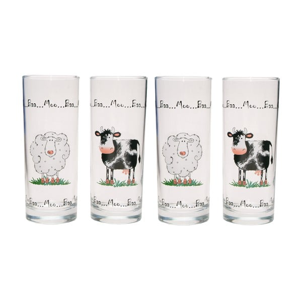 Zestaw 4 szklanek Home Farm