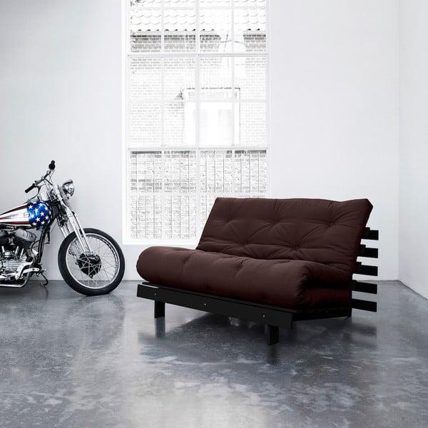Sofa rozkładana Karup Roots Wenge/Brown