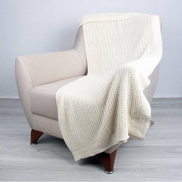 Jasnobeżowy koc bawełniany Homemania Clen, 170x130 cm