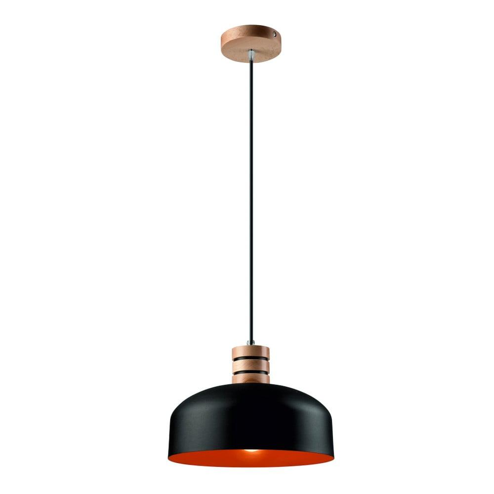 Czarno-czerwona lampa wisząca Lamkur Barista