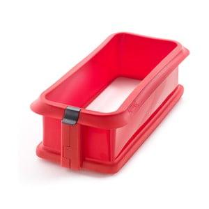Forma do keksu z ceramicznym talerzem, czerwona