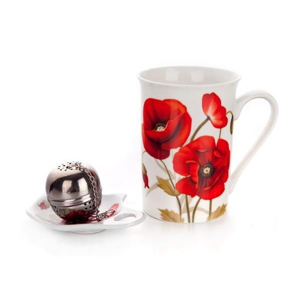 Zestaw do zaparzania herbaty Banquet Red Poppy