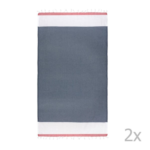 Zestaw 2 ręczników hammam HF Living My Jeans